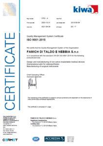 Certificato FAMICH